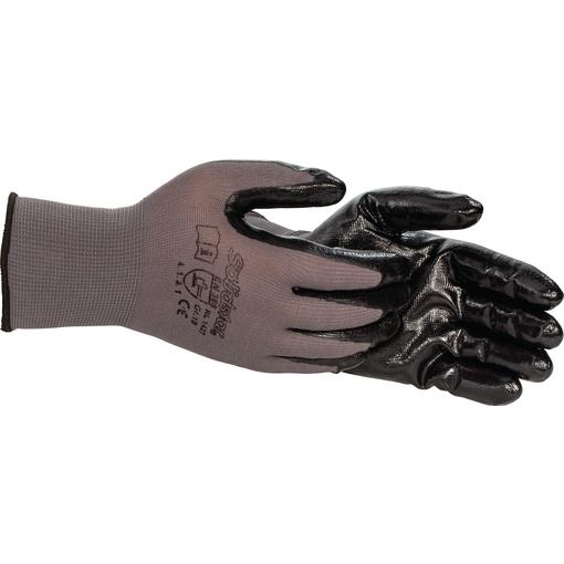 Feinstrick-Handschuh Nitril, grau, Größe 9, 12 Paar Farbe: grau